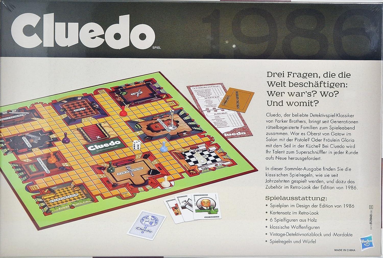 Hasbro Cluedo Retro – El clásico juego de detectives.: Amazon.es: Juguetes y juegos