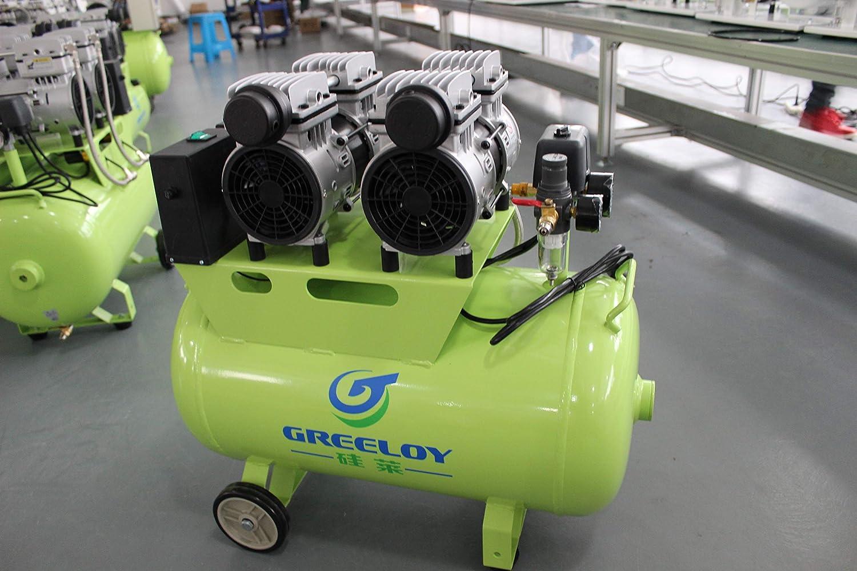 Compresor de Aire 60L Altamente silencioso 1200W 1400rpm por Silla Dental: Amazon.es: Bricolaje y herramientas