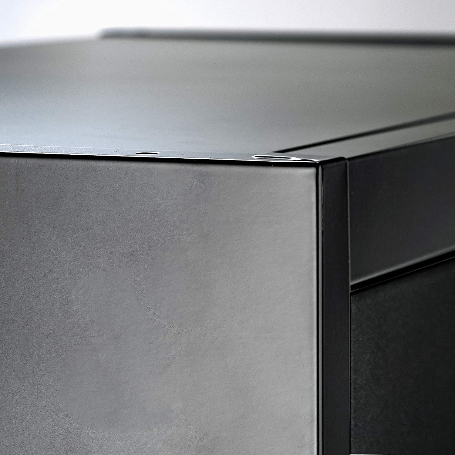 Black Doors Lockable Doors and Adjustable Shelves Office and Laundry Room Metal Storage Cabinet 71 Tall 70.86 Tall x 31.5 W x 15.75 D Great Steel Locker for Garage Kitchen Pantry