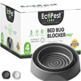 Bed Bug Interceptors - 4 Pack | Bed Bug Blocker (Pro) Interceptor Traps (Black) | Insect Trap, Monitor, and Detector for…