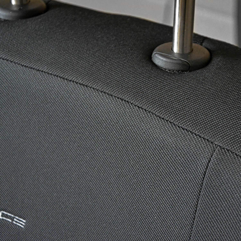 1+2 Gris Polyester Housse de Siege Voiture Avant Protection Auto sur Mesure Protecteur Accessoires Interieur saferide