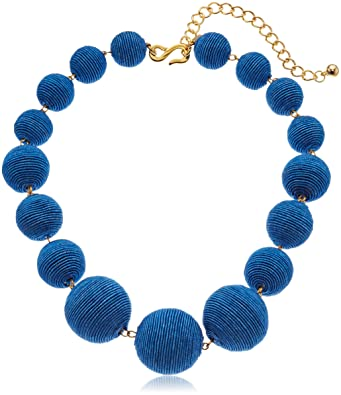 Kenneth Jay Lane Five-Row Beaded Necklace, Turquoise