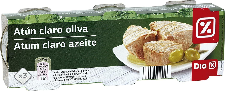 DIA atún claro en aceite de oliva pack 3 latas 52 gr: Amazon ...