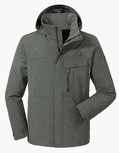 Schöffel ZipIn! Jacket Denver2, atmungsaktive Regenjacke mit ZipIn! Funktion, wind und wasserdichte Outdoor Jacke für Männer Herren