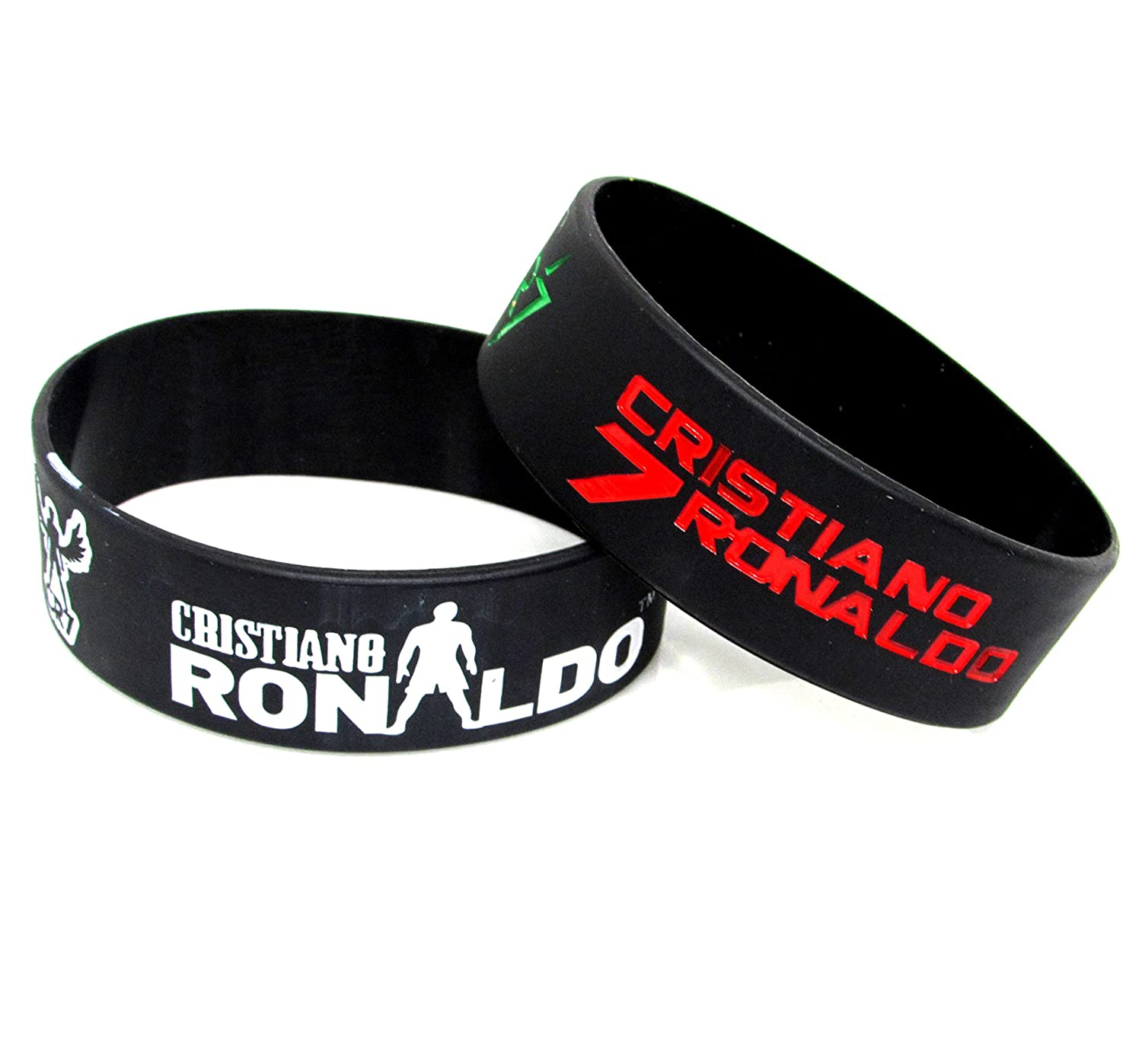 CVANU Men s and Women s Christiano Ronaldo Silicone Wrist Band (Rubber) -  Pack of 2  Amazon.in  Sports c208d33d27