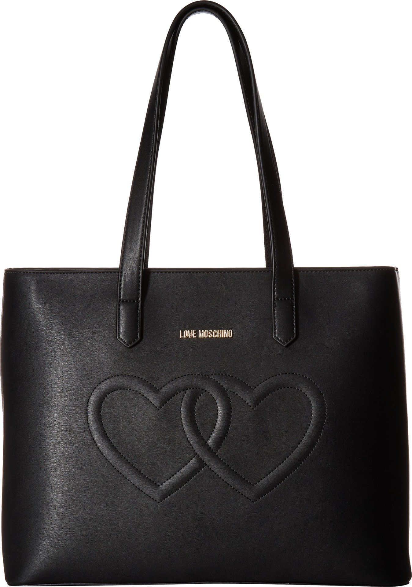 LOVE Moschino Women's Embossed Heart Tote Bag Black One Size