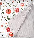 Little Unicorn Cotton Muslin Quilt Blanket - Summer Poppy