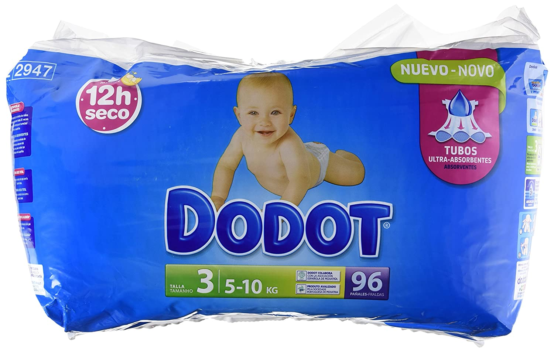 Dodot Pañales Bebés - Talla 3 5-10 kg - 96 unidades: Amazon.es: Amazon Pantry