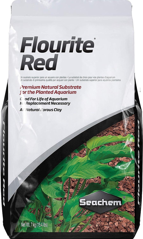 Seachem Fluorita Rojo Arcilla Grava, 7,7kg,