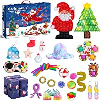 Fidget Toy Advent Calendar 2021 Christmas Countdown Calendar 24 Days Sensory Fidget Toys Set Novelty Decorations Gift…