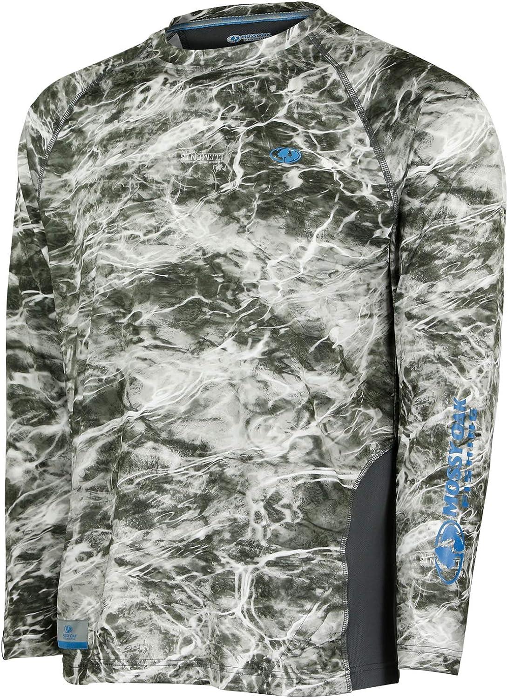 Mossy Oak Mens Long Sleeve Performance Tech Fishing Shirt