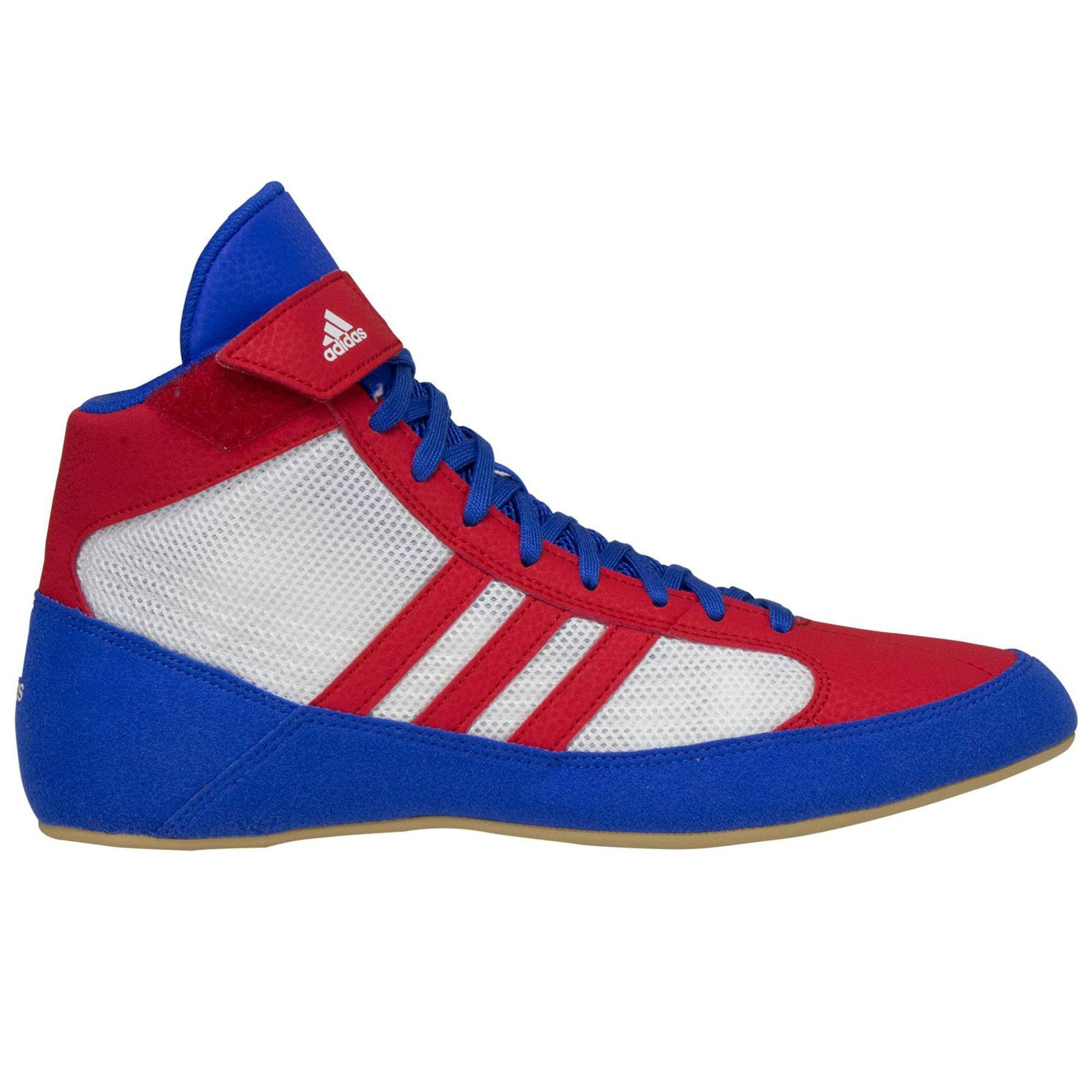 adidas HVC Wrestling Shoes Blue/Red/White Size 10