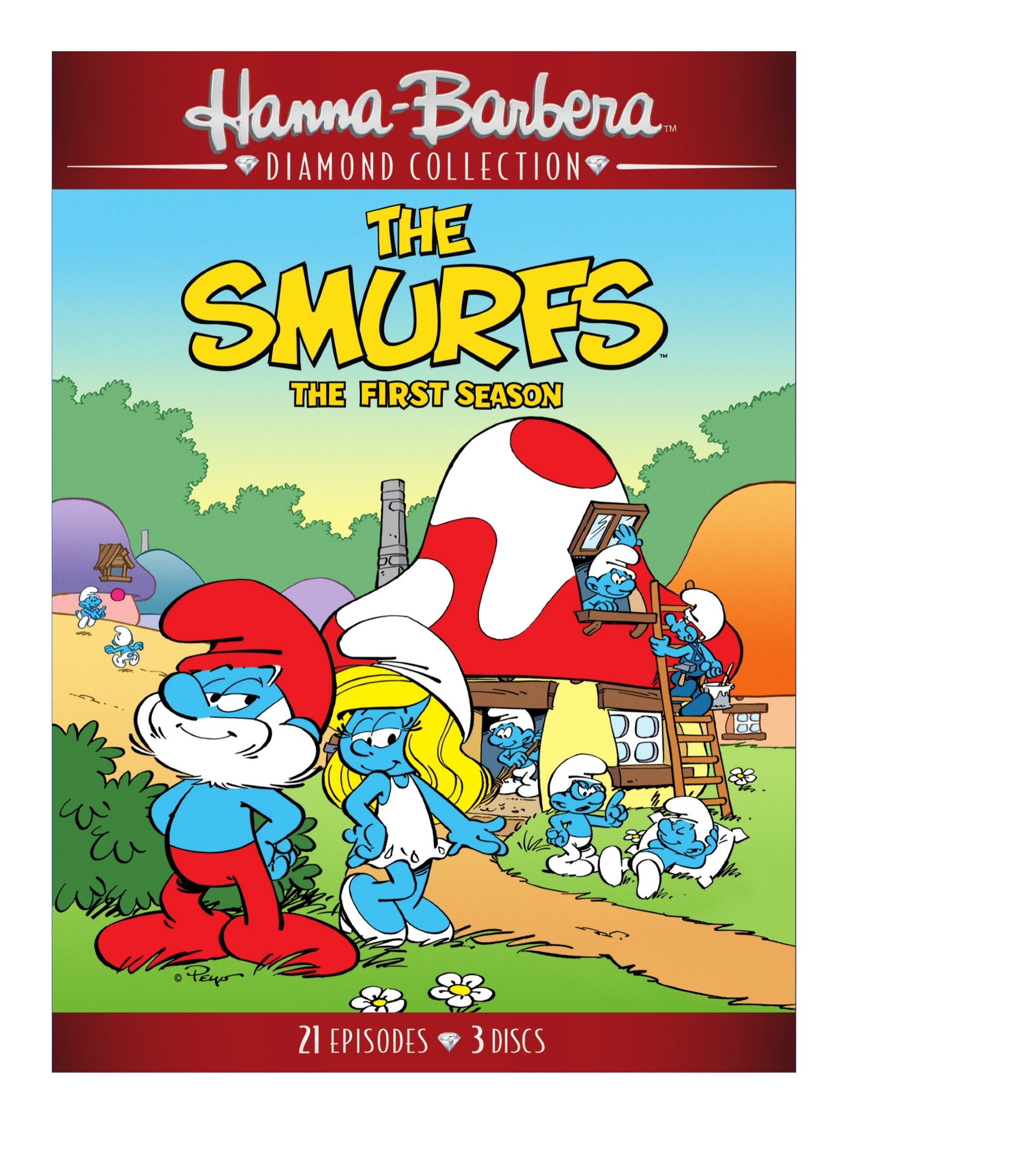 DVD : The Smurfs: The Complete First Season (Amaray Case, 2 Pack, 2 Disc)