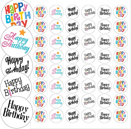 Amazon.com: Feliz Cumpleaños – Sellos en sobre 1.2