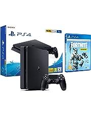 PS4 Slim 1To Console Playstation 4 Noir + Fortnite: Pack froid éternel [inclus.1000 vbucks]