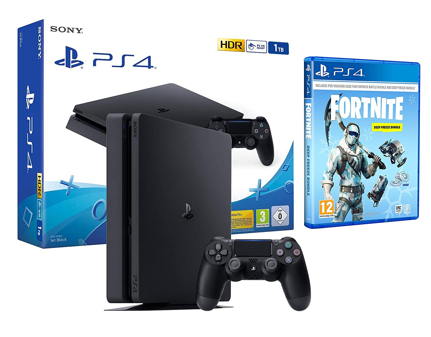 Ps4 Slim 1tb Schwarz Playstation 4 Konsole Fortnite Deep Freeze