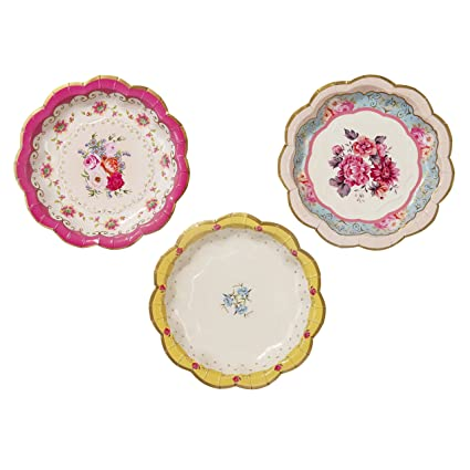 Amazon.com: Talking Tables Truly Scrumptious Disposable Plates, 12 ...