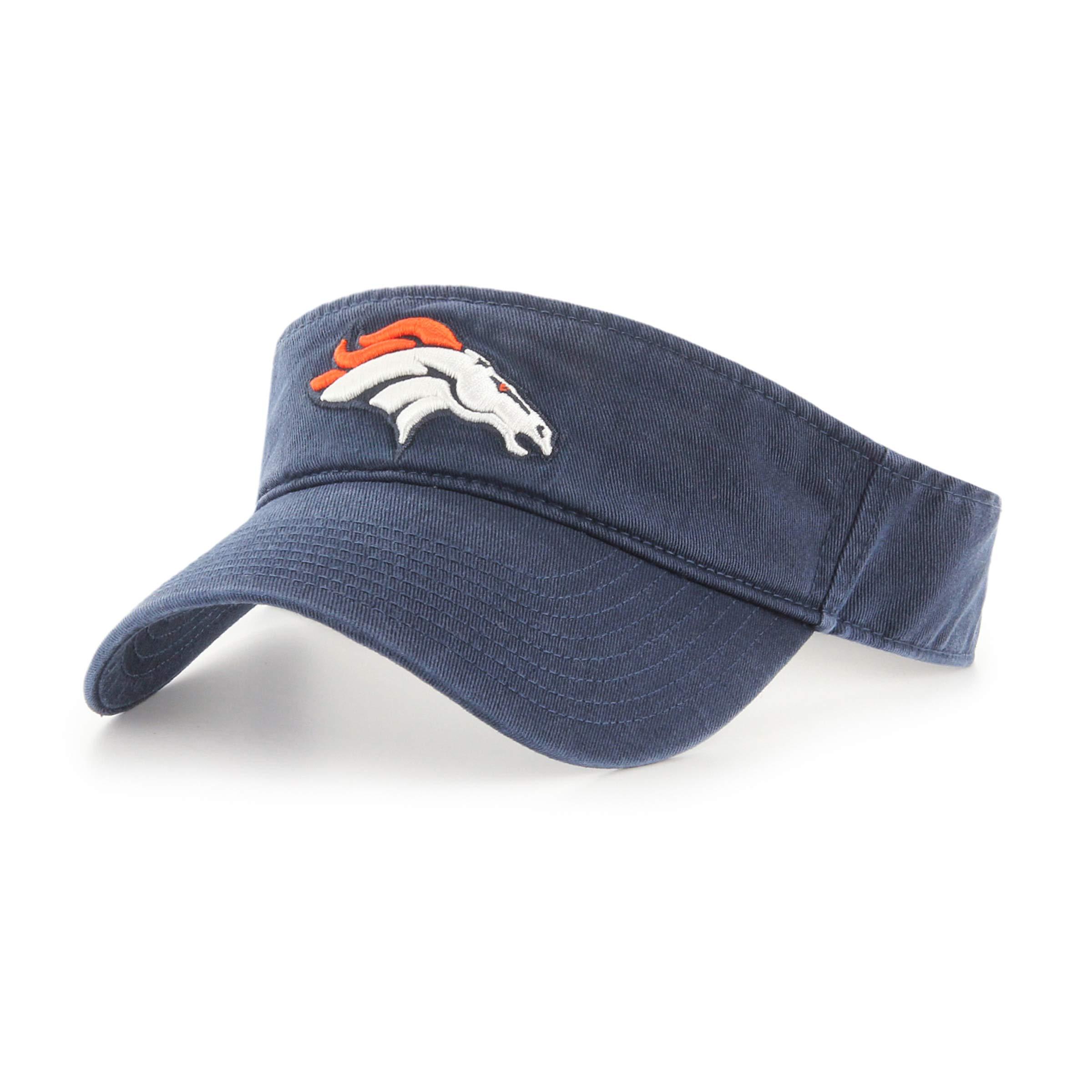 OTS NFL Denver Broncos Male Visor, Navy, One Size