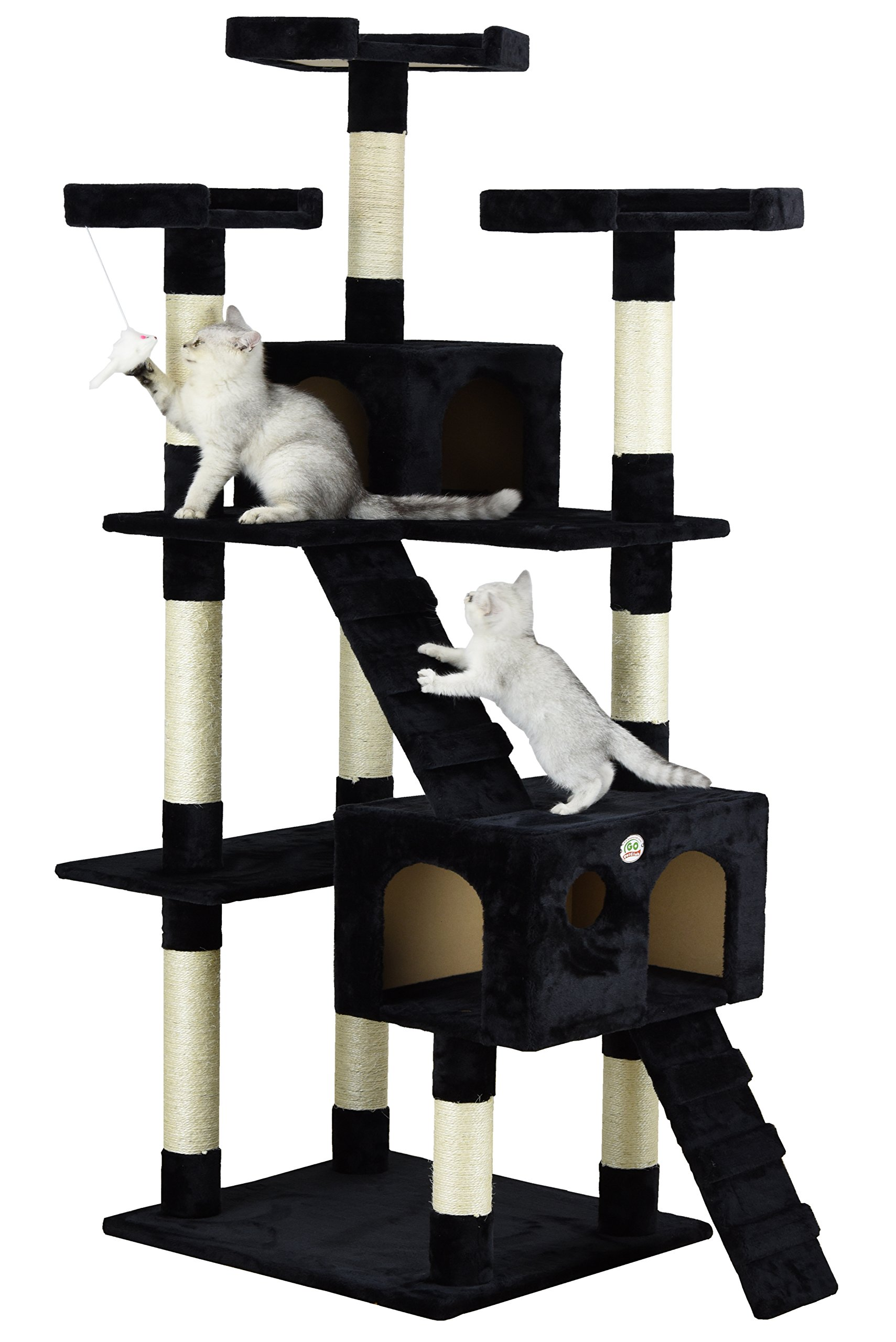 Go Pet Club Cat Tree, 33-Inch by 22-Inch by 72-Inch, Black by Go Pet Club