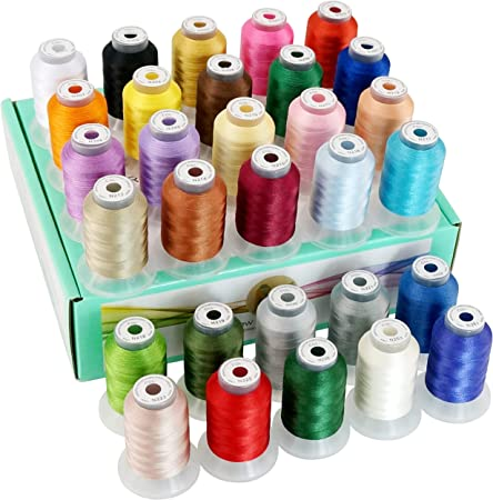 550Y New brothread 30 New Colors Polyester Embroidery Machine Thread Kit 500M Assortment 1 Each Spool