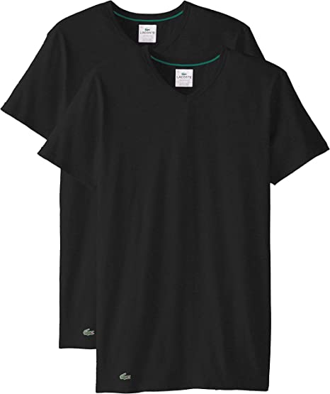 Lacoste Twin Double Pack V Neck Cotton T Shirts in Grey SALE RRP £30