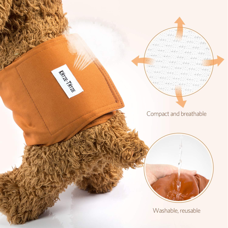 S//M//L//XL Komfortabler Premium Waschbar Hund Windeln 3er Pack Wiederverwendbar und langlebig Pet Windel Katze Tatze Hund Windeln f/ür m/ännlich und weiblich