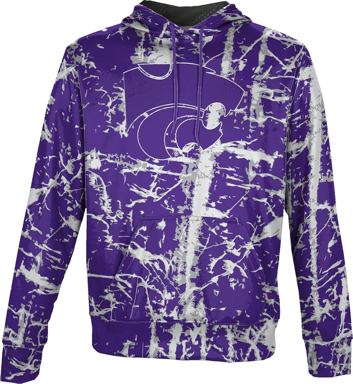 School Spirit Sweatshirt ProSphere Kansas State University Mens Pullover Hoodie Distressed