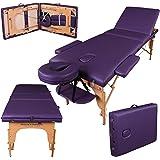 Massage Imperial® - tragbare Profi-Massageliege Kensington - leicht 14 Kg - 3 Zonen - Violett