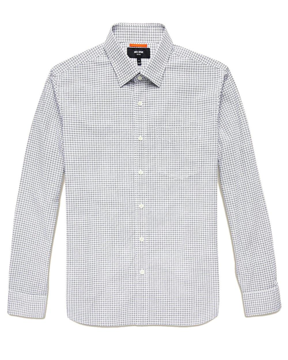 Jack Spade Men's Marrakech Print Poplin Shirt (White, Medium)