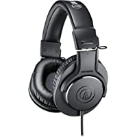 Audio-Technica ATH-M20x Closed-Back Professional Studio Monitor Headphones (Black)
