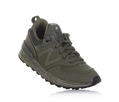 New Balance Boys KFL574SP, Olive, 1.5 Medium US Little Kid