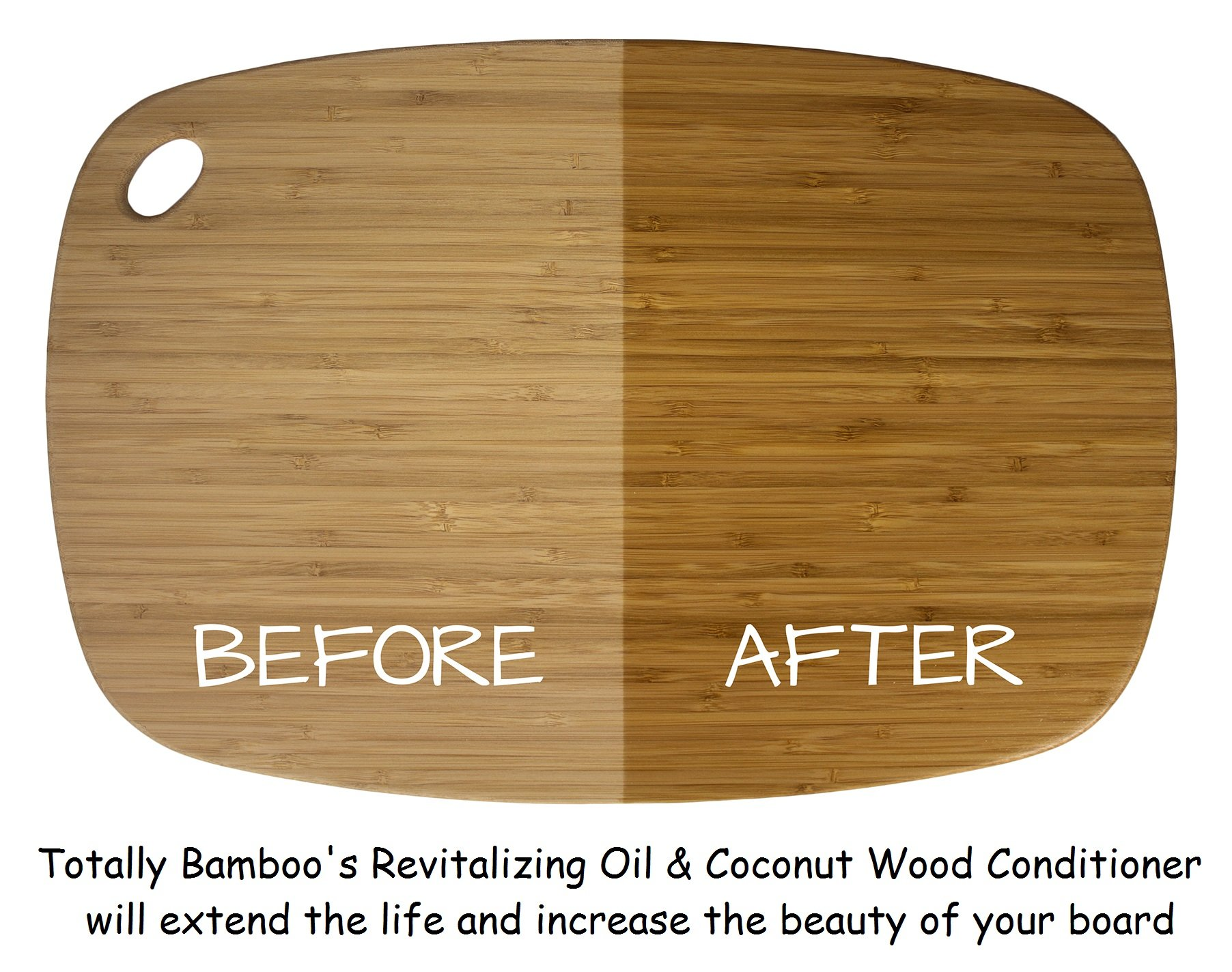 Totally Bamboo Revitalizing & Transformative Mineral Oil, Bamboo and Hardwood cutting, serving boards, counter tops & butcher blocks + SET OF 2 (8 oz. Bottles) by Totally Bamboo