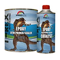 Speedokote Epoxy Fast Dry 2.1 Low voc DTM Primer & Sealer Gray Gallon Kit, SMR-260G...