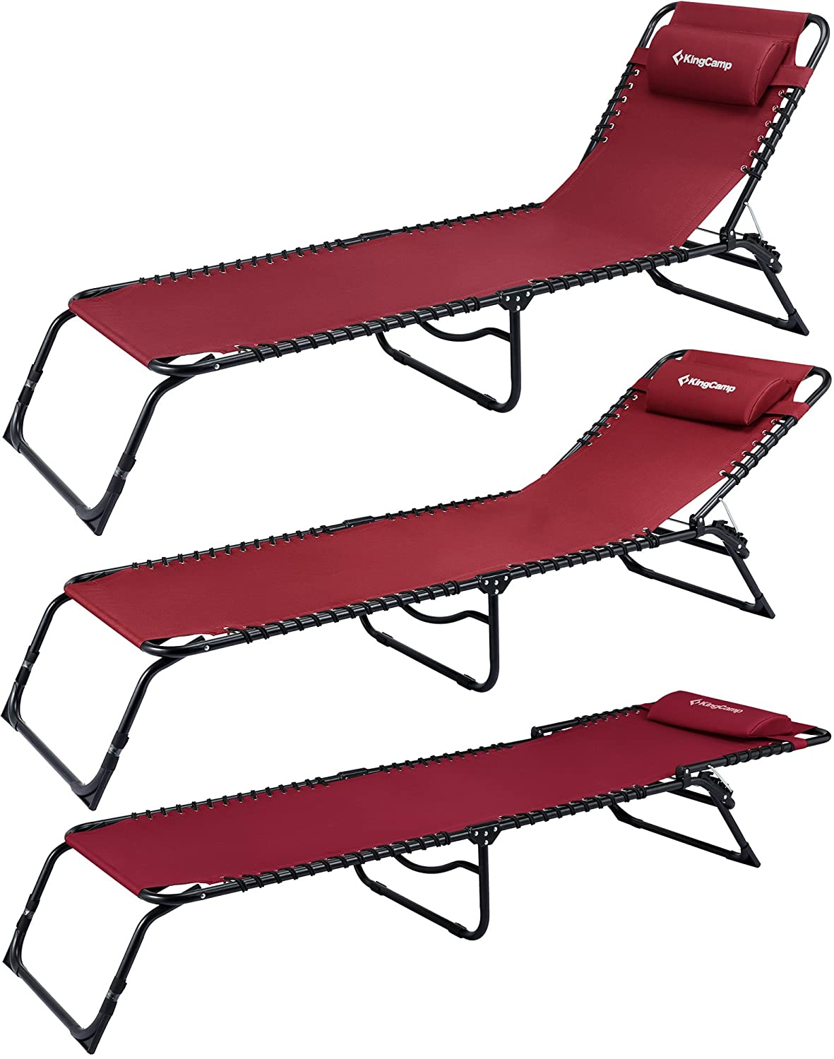 Amazon.com : KingCamp Patio Lounge Chair Chaise Bed 3 ...