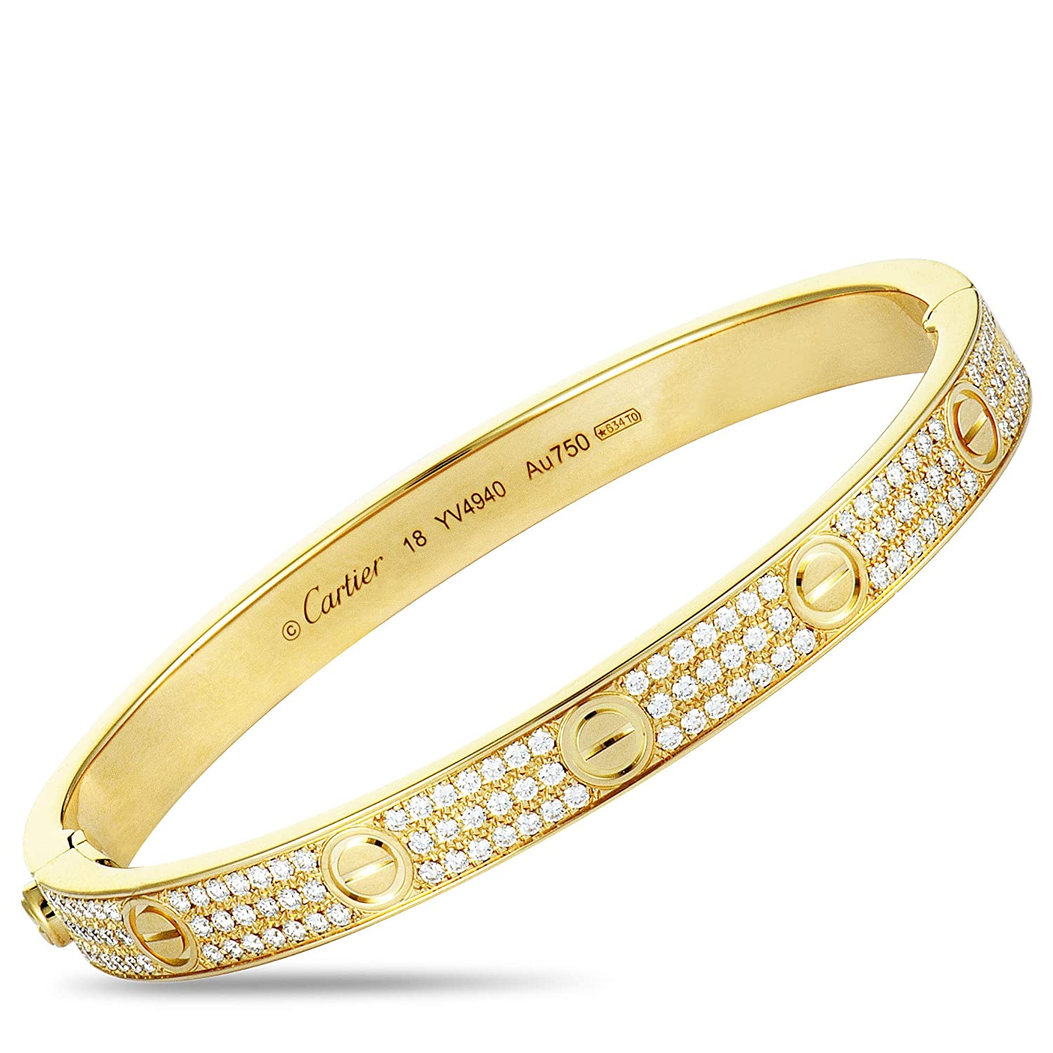257fd45f440d0 Amazon.com: Luxury Bazaar Cartier Love 18K Yellow Gold Diamond ...