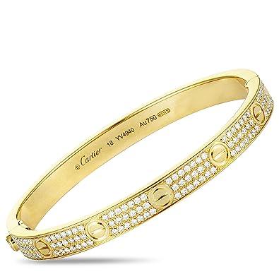 8fc10fbe76d9b Amazon.com: Luxury Bazaar Cartier Love 18K Yellow Gold Diamond ...