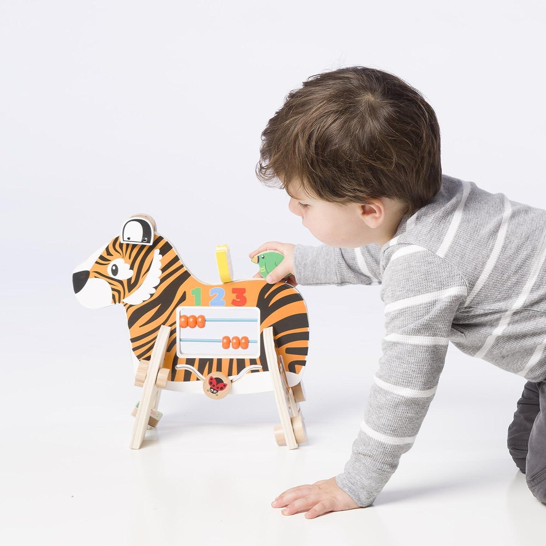 Manhattan Toy Safari Zebra Wooden Toddler Activity Toy