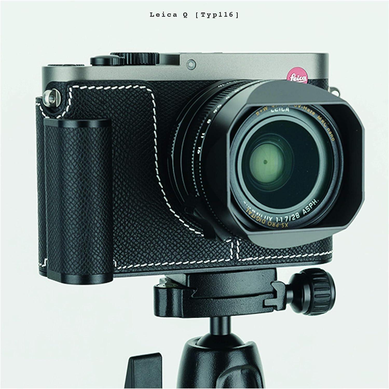 Leica Q 100/% Leather Handmade Camera case Stone Yellow