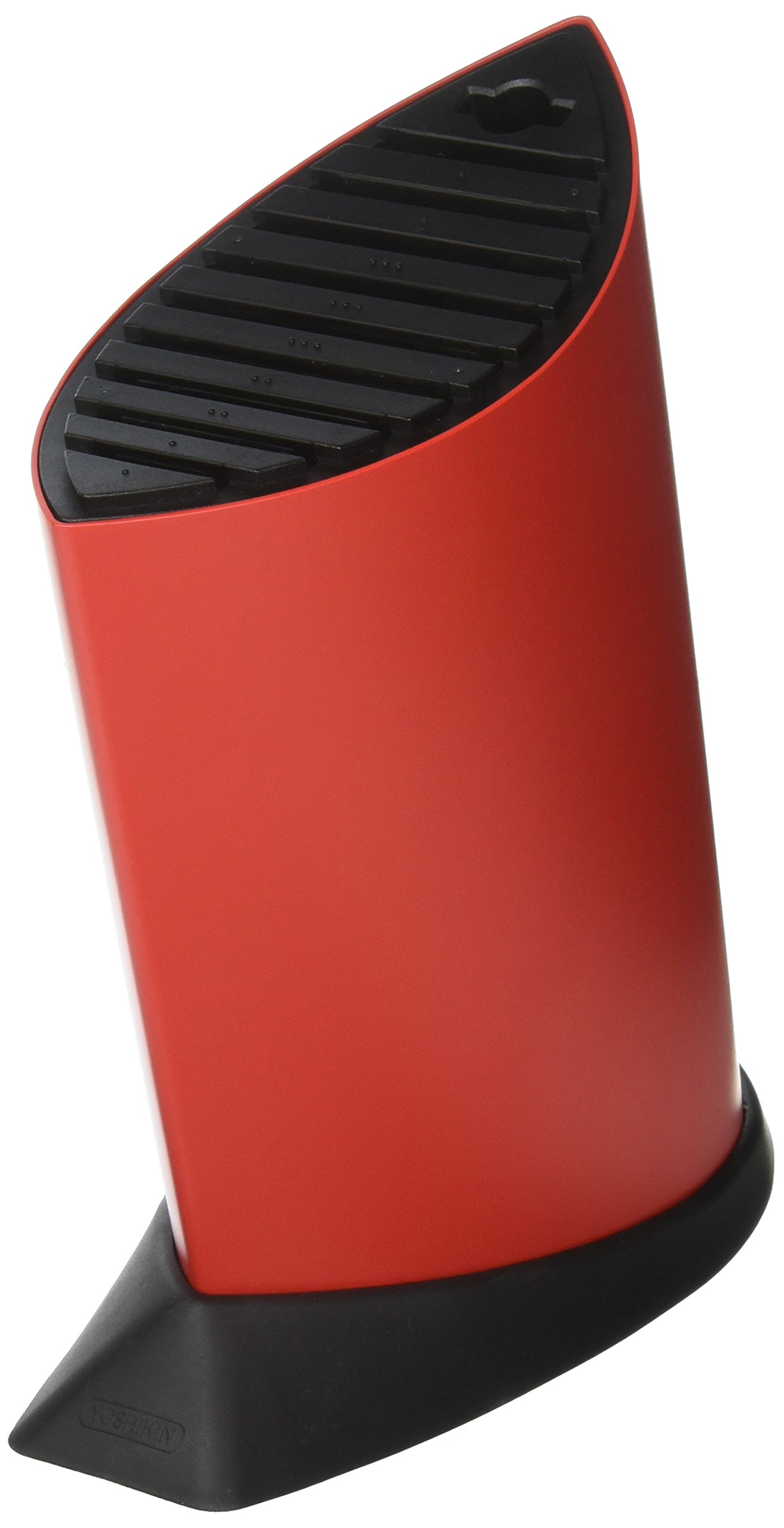 Global GKB-52/CR 10 Slot Ship Shape Knife Block - Red