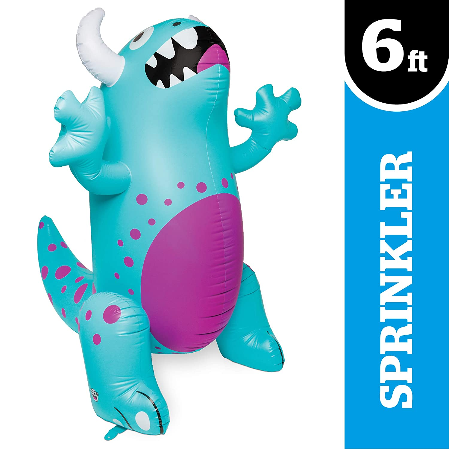 BigMouth Inc Perfect for Summer Fun Ginormous Inflatable Dinosaur Yard Summer Sprinkler