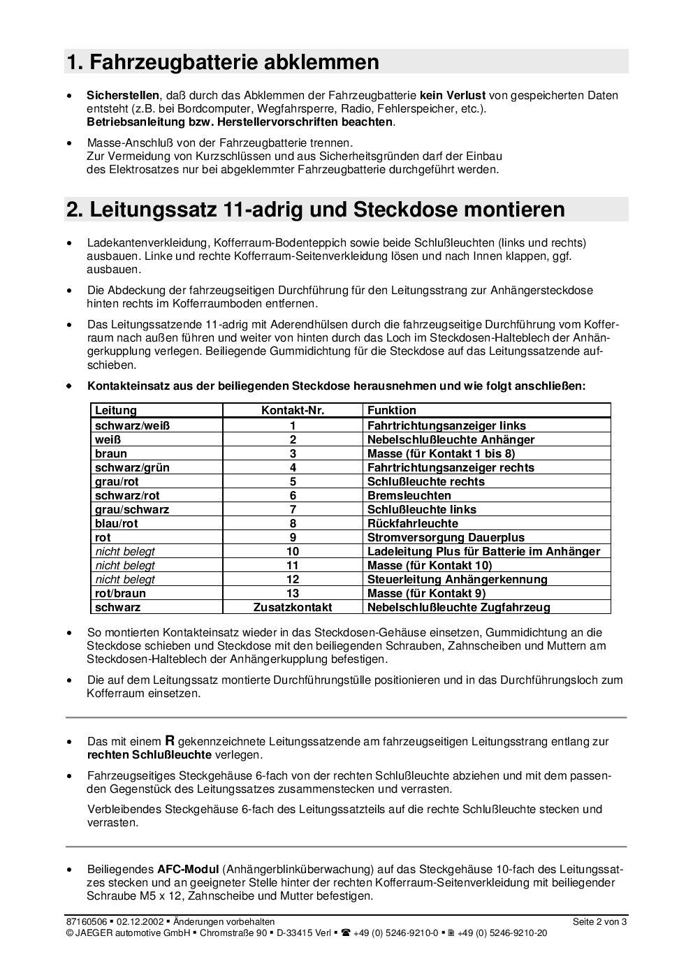 Tolle Anhängerstecker 7 Fach Ideen - Der Schaltplan ...