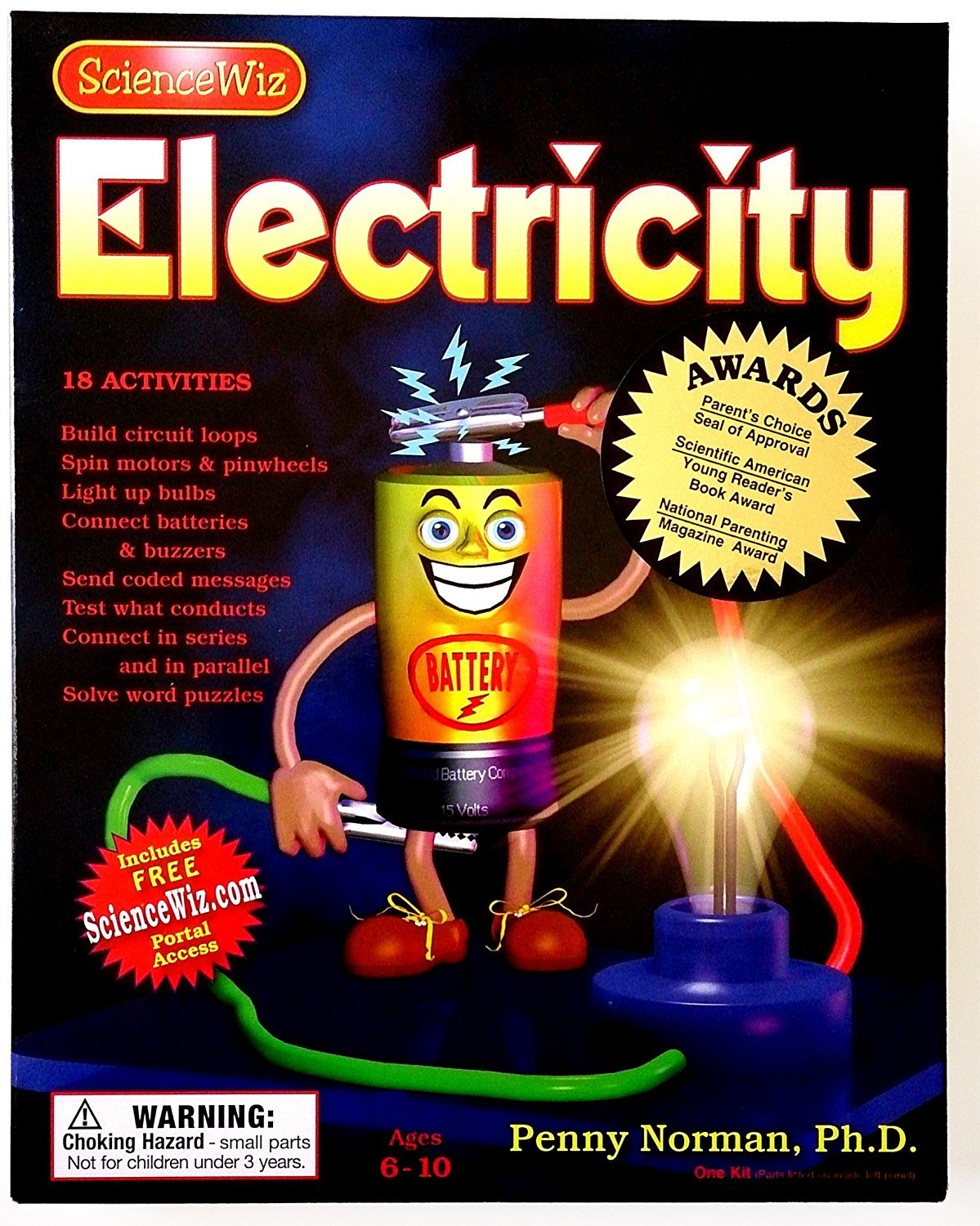 New Sciencewiz Electricity Kit Science Educational Set Snap Circuits Jr Sc 100 Electronics Discovery Factory Sealed For Children Kids Fun Ages 5 Toys Games