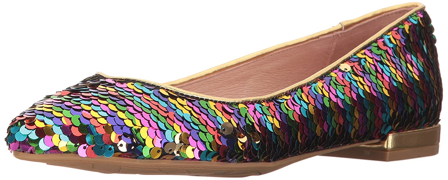 Chinese Laundry Women's Gavin Pointed Toe Flat B0727Y1JMT 5 B(M) US|Rainbow Sequins
