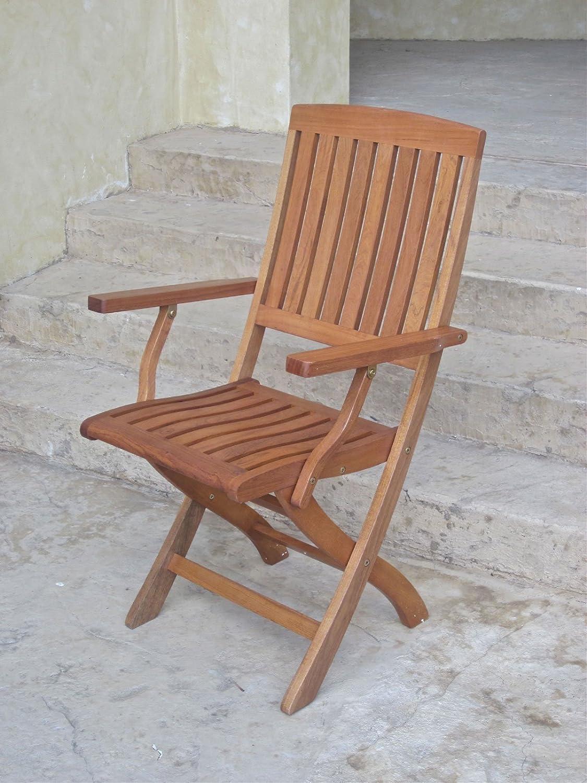 Amazon.com: International Caravan TT FA 40 2CH IC Furniture Piece Royal  Tahiti Set Of 2 Outdoor Folding Arm Chairs: Kitchen U0026 Dining