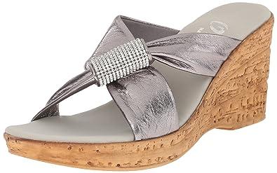 358394edb4 Onex Women's Starr Wedge Sandal, Pewter, 11 M US: Buy Online at Low ...