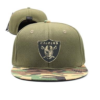 1a62fb174503 Ruskin Toby Unisex Oakland-Raiders-Logo-Camo Adjustable Baseball Hat  Fashion Cap  Amazon.co.uk  Clothing
