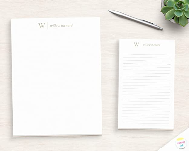 Gift for Coworker Name and Initials Notepad MNP032 Monogram Personalized Notepad From the Desk of Office Custom Writing Pad For Dad