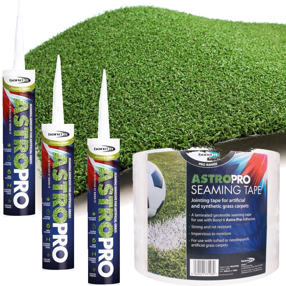 8m Bondit Astro Pro Seaming tape + 3 tubes glue for artificial grass turf sports pitches Bond it