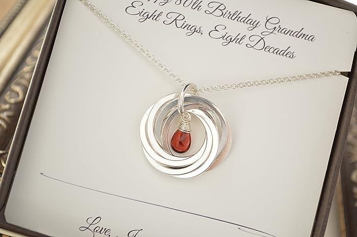Amazon 80th Birthday Gift For Mom And Grandma Garnet