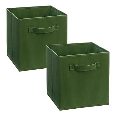 ClosetMaid 3787 Cubeicals Fabric Drawer, Dark Green, 2-Pack